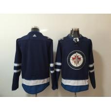 Men Winnipeg Jets Blank Blue Hockey Stitched Adidas NHL Jerseys