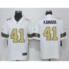 2017 Men New Nike New Orleans Saints 41 Kamara Navy White Color Rush Limited Jersey