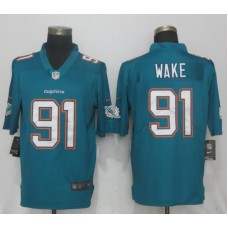 Men Miami Dolphins 91 Wake Green 2017 Vapor Untouchable Limited Player NFL Jerseys