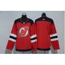 Women New Jersey Devils Blank Red Hockey Stitched Adidas NHL Jerseys