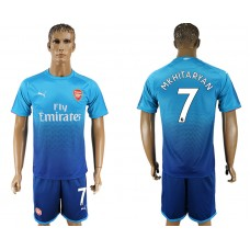 Men 2017-2018 club Arsenal away 7 blue soccer jersey