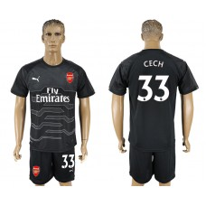 Men 2017-2018 club Arsenal black goalkeeper 33 soccer jersey