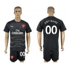 Men 2017-2018 club Arsenal black goalkeeper customized soccer jersey