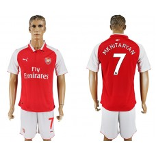 Men 2017-2018 club Arsenal home 7 red soccer jersey