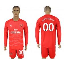 Men 2017-2018 club Arsenal red goalkeeper long sleeve customized soccer jersey