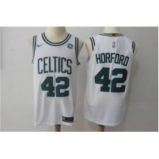 Men Boston Celtics 42 Horford White Game Nike NBA Jerseys
