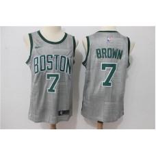 Men Boston Celtics 7 Brown Grey Game Nike NBA Jerseys