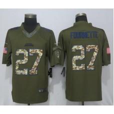 Men Jacksonville Jaguars 27 Fournette Green Salute To Service Nike Limited NFL Jerseys