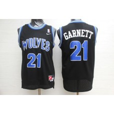 Men Minnesota Timberwolves 21 Garnett Black Elite Nike NBA Jerseys