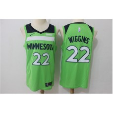 Men Minnesota Timberwolves 22 Wiggins Green Game Nike NBA Jerseys
