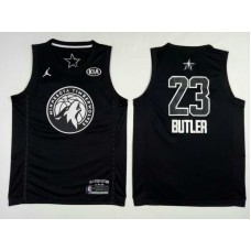 Men Minnesota Timberwolves 23 Butler Black 2108 All Stars NBA Jerseys
