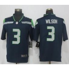 Men Seattle Seahawks 3 Wilson Navy Blue 2017 Vapor Untouchable New Nike Limited Player NFL Jerseys