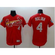 Men St.Louis Cardinals 4 Molina Red Elite Spring Edition MLB Jerseys