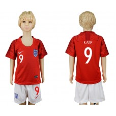 2018 World Cup England away kids 9 red soccer jersey
