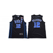 Men Duke Blue Devils 12 Williamson Black Nike NCAA Jerseys