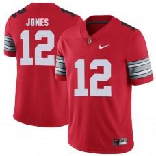 Men Ohio State 12 Jones Red Customized NCAA Jerseys