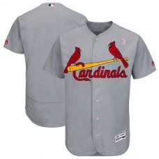 Men St.Louis Cardinals Blank Grey Mothers Edition MLB Jerseys