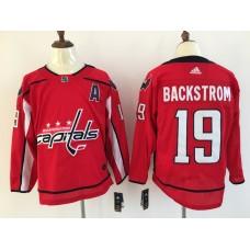 Men Washington Capitals 19 Backstrom red Adidas Hockey Stitched NHL Jerseys