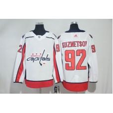 Men Washington Capitals 92 Kuznetsov White Adidas Hockey Stitched NHL Jerseys