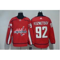 Men Washington Capitals 92 Kuznetsov red Adidas Hockey Stitched NHL Jerseys