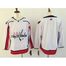 Men Washington Capitals Blank White Adidas Hockey Stitched NHL Jerseys