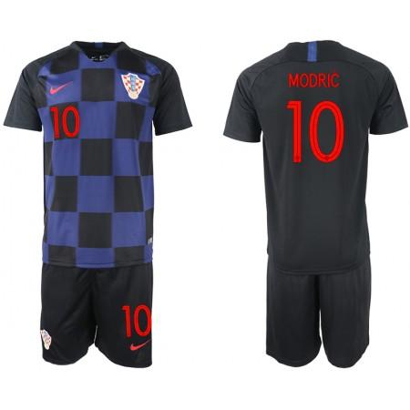 2018 World Cup Men Croatia away 10 soccer jersey