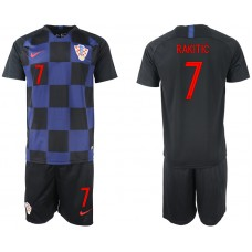 2018 World Cup Men Croatia away 7 soccer jersey