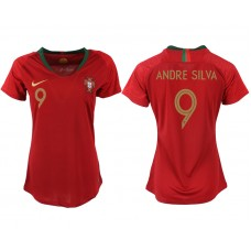 2018 World Cup Portuga home aaa version womens 9 soccer jersey
