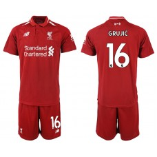 2018-2019 Men club Liverpool home 16 soccer jersey