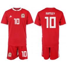 2018-2019 Men nationa Welsh home 10 soccer jersey