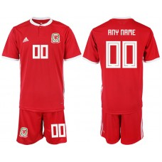 2018-2019 Men nationa Welsh home customized soccer jersey