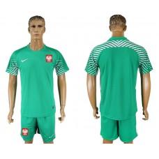 Men 2018 World Cup Poland  green goalkeeper soccer jersey