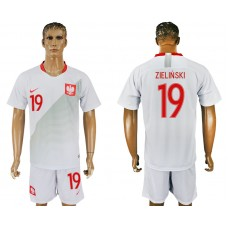 Men 2018 World Cup Poland home 19 white soccer jersey
