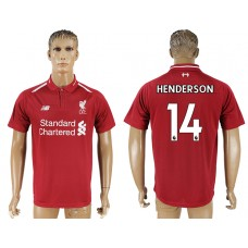 Men 2018-2019 club Liverpool home aaa version 14 red soccer jersey