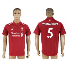 Men 2018-2019 club Liverpool home aaa version 5 red soccer jersey