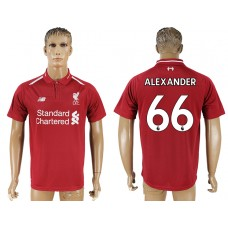 Men 2018-2019 club Liverpool home aaa version 66 red soccer jersey