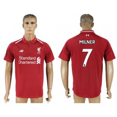Men 2018-2019 club Liverpool home aaa version 7 red soccer jersey
