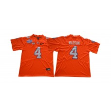 Men Clemson Tigers 4 Watson Orange NCAA Jerseys