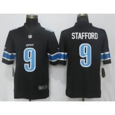 Men Detroit Lions 9 Stafford Black Vapor Untouchable Limited Player NFL Jerseys