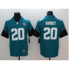Men Jacksonville Jaguars 20 Ramsey Green Vapor Untouchable Limited Player Nike NFL Jerseys