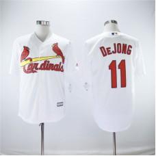 Men St.Louis Cardinals 11 Dejong White Game MLB Jerseys