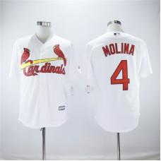 Men St.Louis Cardinals 4 Molina White Game MLB Jerseys