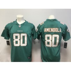 Men Miami Dolphins 80 Amendola Green Vapor Untouchable Player Nike Limited NFL Jerseys