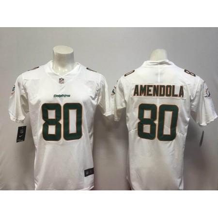 Men Miami Dolphins 80 Amendola White Vapor Untouchable Player Nike Limited NFL Jerseys