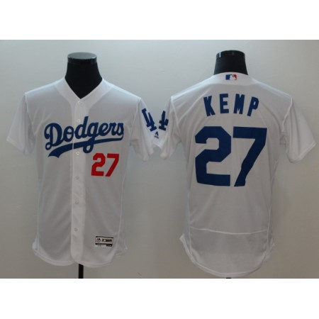 2018 Men MLB Los Angeles Dodgers 27 matt Kemp white Flexbase jerseys