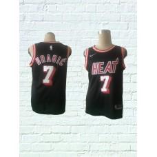 2018 Men Miami Heat 7 Dragic Black Game Nike throwback NBA Jerseys