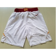 2018 Men NBA Nike Cleveland Cavaliers white shorts