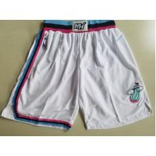 2018 Men NBA Nike Miami Heat white shorts
