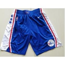 2018 Men NBA Nike Philadelphia 76ers blue shorts