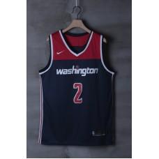 2018 Men NBA Washington Wizards 2 John Wall blue game Jerseys